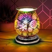 3d Silver Snowflake Aroma Lamp (LP51886)
