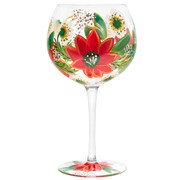 Xmas Hand Painted Gin Glass (LP52420)