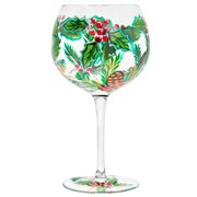 Xmas Hand Painted Gin Glass (LP52422)