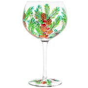 Xmas Hand Painted Gin Glass (LP52423)