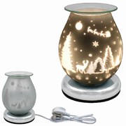 Xmas Glass Touch Aroma Lamp (LP52450)