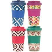 Bamboo Travel Mugs 4 Assorted 350ml (LP87001)