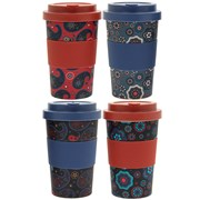 Bamboo Gents Travel Mug 4 Asstd (LP87087)
