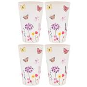 Butterfly Garden Bamboo Beakers 4s (LP87094)
