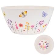 Butterfly Garden Bamboo Salad Bowl (LP87098)