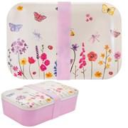Butterfly Garden Bamboo Lunch Box (LP87100)