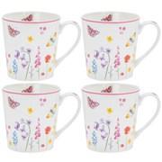 Butterfly Garden Mug Set 4s (LP94470)