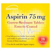lpharm Asprin 75mg Tablets 28s (GA)