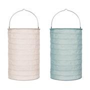 B/o Paper Lantern Blue And White 20cm (LT194145)