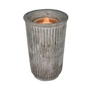 Concrete Water Candle 14.5x22cm (LT195006)