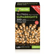 Premier Dec 200 Superbright Led Multi Action  Vintage Gold (LV071255VGC)