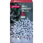 Premier Dec Superbright Led Multi Action Clear Cable White 200s (LV071255WC)