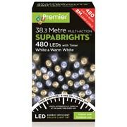 480 M/a Led Superbrights W/timer White/w'white (LV162172WWW)