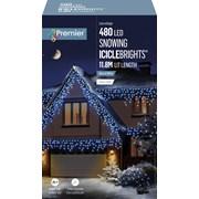 Premier 480 Led Snowing Icicles W/timer Blue/white (LV162184BW)