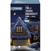 Premier 720 Led Snowing Icicles W/timer White (LV162185W)