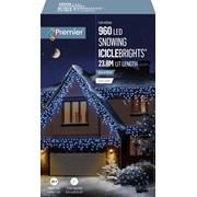 Premier 960 Led Snowing Icicles W/timer Blue/white (LV162186BW)
