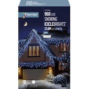 Premier 960 Led Snowing Icicles W/timer  White (LV162186W)