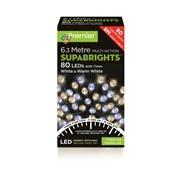 80 M/a Led Superbrights W/timer White+w/white (LV178500WWW)