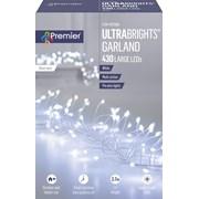 Premier Dec 430 M/a Silver Ultrabright Garland W/timer White (LV192174W)