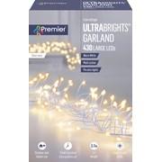 Premier Dec 430 M/a Silver Ultrabright Garland W/timer W/white (LV192174WW-NM)