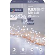 Premier Dec 430 M/a R/gold Ultrabright Garland W/timer White (LV192175W-NM)