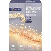 Premier Dec 430 M/a R/gold Ultrabright Garland W/timer W/white (LV192175WW)