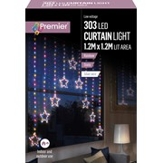 Premier 1.2 M Pin Wire Star V Curtain Rainbow Led 1.2 (LV201145RBW)
