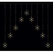 Premier 1.2 M Pin Wire Snowflake V Curtain W/white Led 1.2 (LV201146)