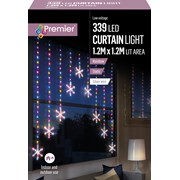 Premier 1.2 M Pin Wire Snowflake V Curtain Rainbow Led 1.2 (LV201146RBW)