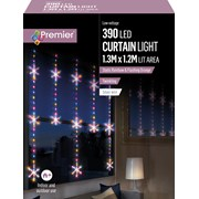 Premier 1.2 M Pin Wire Snowflakecurtain Twinkle Rainbow Le 1.2 (LV201152RBW)