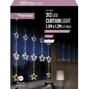 Premier 1.2 M Pin Wire Star Curtain Twinkle W/white Led 1.2 (LV201153)