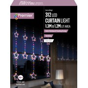Premier 1.2 M Pin Wire Star Curtain Twinkle Rainbow Led 1.2 (LV201153RBW)