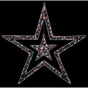 Premier White Double Star With Rainbow Led 80cm (LV201155RBW)
