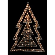 Premier 80cm White Led Lights Double Tree 1.2 (LV201157)