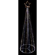 Premier 1.2mt Blk Pin Wire Pyramid Tree White/warm White 1.2mt (LV201225)