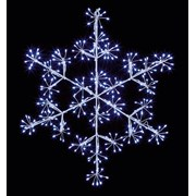 Premier Microbright Snowflake White Led 40cm (LV213043W)