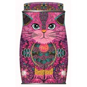 Monty Bojangles Persian Pink Cat Tin Of Choccy Scoffy Truffles 135g (MB118)
