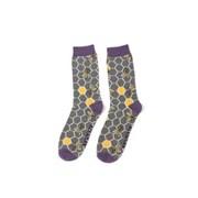Mr Heron Bee Hive Socks Grey (MH184GREY)