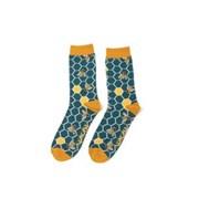 Mr Heron Bee Hive Socks Teal (MH184TEAL)