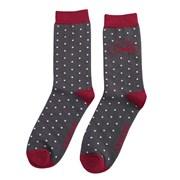 Mr Heron Bike & Spots Socks Charcoal (MH167CHARCOAL)