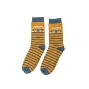 Mr Heron Camper Stripes Socks Mustard (MH182MUSTARD)