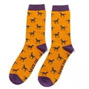 Mr Heron Horses Socks Mustard (MH177MUSTARD)