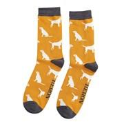Mr Heron Labradors Socks Mustard (MH173MUSTARD)