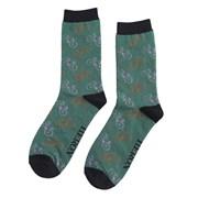 Mr Heron Little Bikes Socks Green (MH161GREEN)