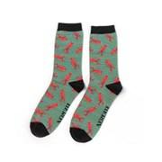 Mr Heron Lobster Socks Teal (MH178TEAL)