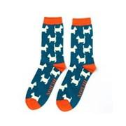 Mr Heron Scottie Socks Teal (MH180TEAL)