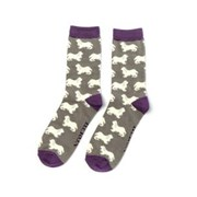 Mr Heron Spaniels Socks Grey (MH181GREY)