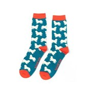 Mr Heron Spaniels Socks Teal (MH181TEAL)