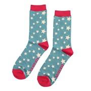 Mr Heron Stars Socks Teal (MH166TEAL)