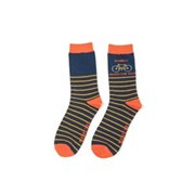 Mr Heron Wheely Awesome Dad Socks Navy (MH188NAVY)